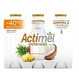 Iogurte Actimel de ananás e coco -40% açúcar