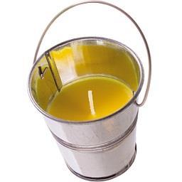 Vela repelente em balde 3% citrino