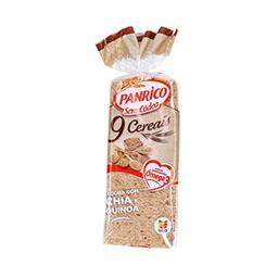 Pão de forma sem côdea 9 cereais