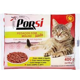 Comida húmida para gato carnes e legumes com molho