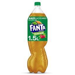Fanta guaraná sem açúcar embalagem 1,5 l.