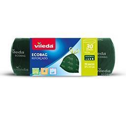 Saco Lixo Ecobag Reforçado 30L (Fecho Fácil)