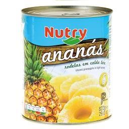 Ananás 8 rodelas em calda