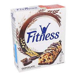Barras fitness com chocolate