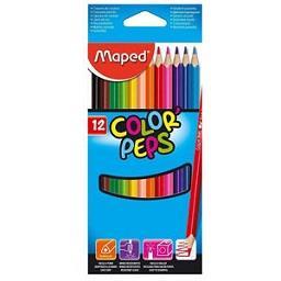 Lápis de cor peps longo, 12 unidades