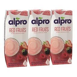 Bebida soja frutos vermelhos 3x250ml