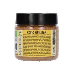Açúcar de coco biológico dourado simple