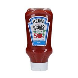 Ketchup menos sal e açucares