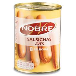 Salsichas de aves em lata