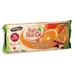 Bolachas fruit & form, laranja