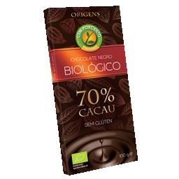 Chocolate negro 70% cacau bio