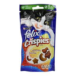 Snack para gato crispies vaca e frango