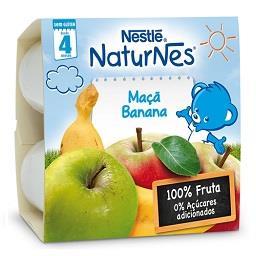 Fruta para bebé maçã banana +4 meses
