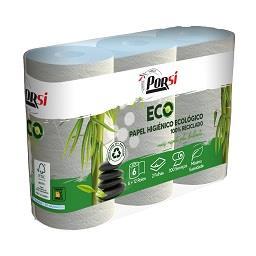 Papel higiénico ecológico 100% reciclado