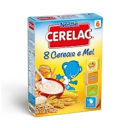 Papa infantil não láctea 8 cereais e mel +6 meses