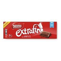Tablete de chocolate extra fina leite