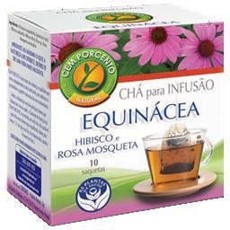 Chá infusão equinácea e hibisco