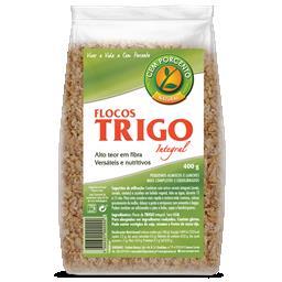Flocos de trigo integral