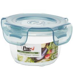 Caixa de vidro redonda para alimentos