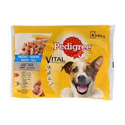 Alimento húmido cão galinha/vaca/cenouras