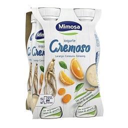 Iogurte líquido laranja, cenoura e ginseng