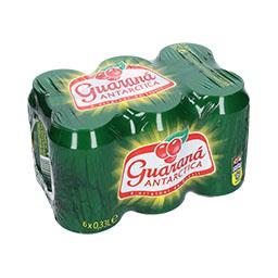 Refrigerante com gás guaraná, lata