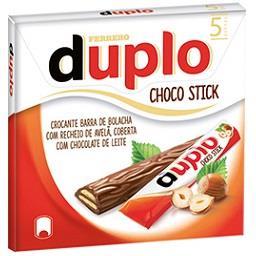 Barras de bolacha com avelã e chocolate
