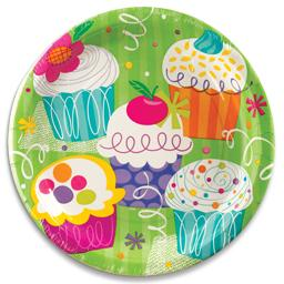 Pratos cupcake party 23cm