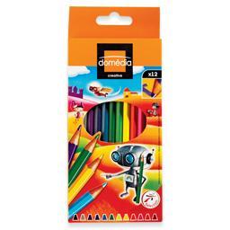 12 lápis de cor, 18cm