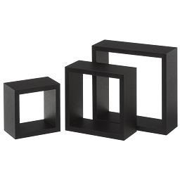 3 estantes preto