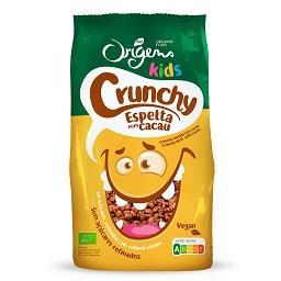 Crunchy kids de espelta com cacau origens bio
