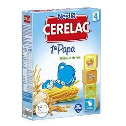 1ª papa não lactea milho e arroz sem glúten +4 meses