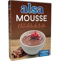 Mousse chocolate leite