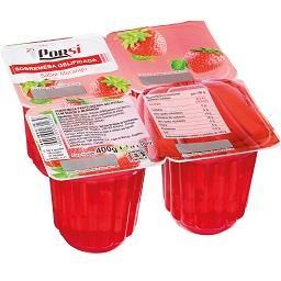 Sobremesa gelatina de morango