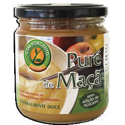 Puré de maçã natural