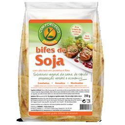 Bifes de soja desidratados
