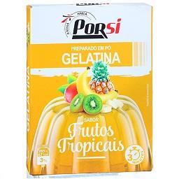 Gelatina de frutos tropicais
