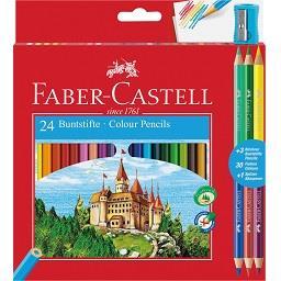24 Lápis de Cor + 3 Bicolor + Afia