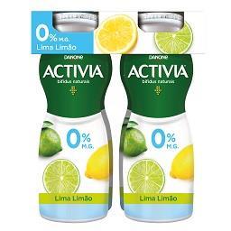 Iogurte activia líquido 0% lima/limão