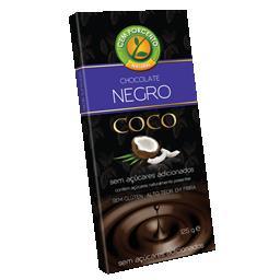 Chocolate negro com coco