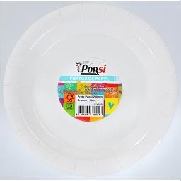 Pratos de papel brancos 22 cm