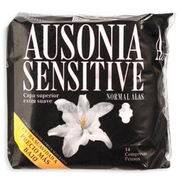 Pensos Higiénicos Sensitive c/ Abas Normal