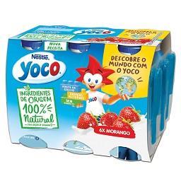 Iogurte líquido yoco 100% natural morango sem lactos...