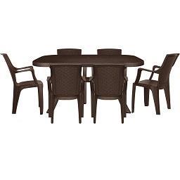 Conjunto de mesa + 6 cadeiras