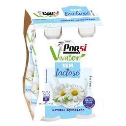 Iogurte liquido sem lactose natural açucarado