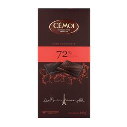 Tablete de chocolate negro 72%