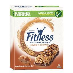 Barras de cereais fitness crunchy & caramelo