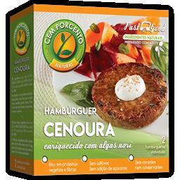 Hambúrguer de cenoura e algas