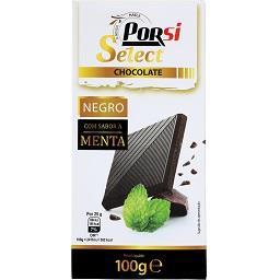 Tablete de chocolate negro com menta