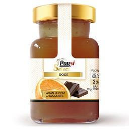 Doce de laranja com chocolate